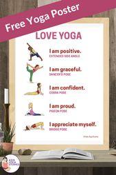 Free LOVE yoga poster