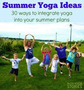 Summer Yoga Ideas for Kids (Printable Poster)
