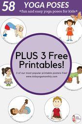 58 Fun and Easy Yoga Poses for Kids (Printable Posters)