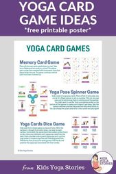 How to Play with Yoga Cards for Kids (Printable Poster) - Kids Yoga Stories | Yoga stories for kids