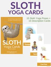 Sloth Yoga Cards for Kids