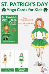 St. Patrick's Day for Kids: Books and Yoga Poses (Printable Poster) - Kids Yoga Stories | Yoga stori
