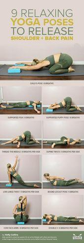 9 Entspannende Yoga-Übungen zur Befreiung von Schulter- und Rückenschmerzen  #...