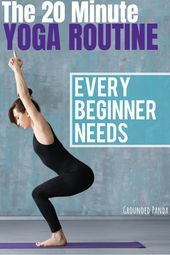 Are you a complete beginner to yoga? This 20 minute yoga routine for beginners w...