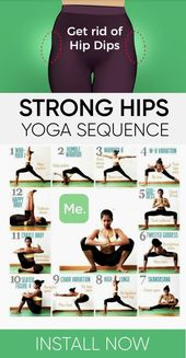 Strong Hips Yoga Sequence #health #fitness #workout #exercise #yoga