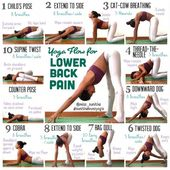 Yoga poses for lower back pain Check my Instagram account miss sunitha for detai...