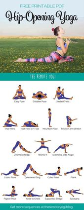 Hip Opening Yoga Flow Sequence PDF – Free Printable Download