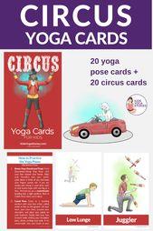 Circus Yoga Cards for Kids