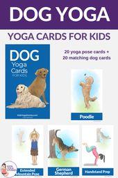 Dog Yoga Cards for Kids