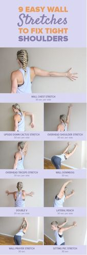 9 Effective And Easy Wall Stretches to Fix Tight Shoulders