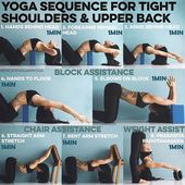 """Erica Tenggara's Instagram profile post: """"YOGA SEQUENCE FOR TIGHT SHOULDERS & UPPER BACK  A lot of you asked for a sequence for the back and shoulders so here is one with props -…"""""""