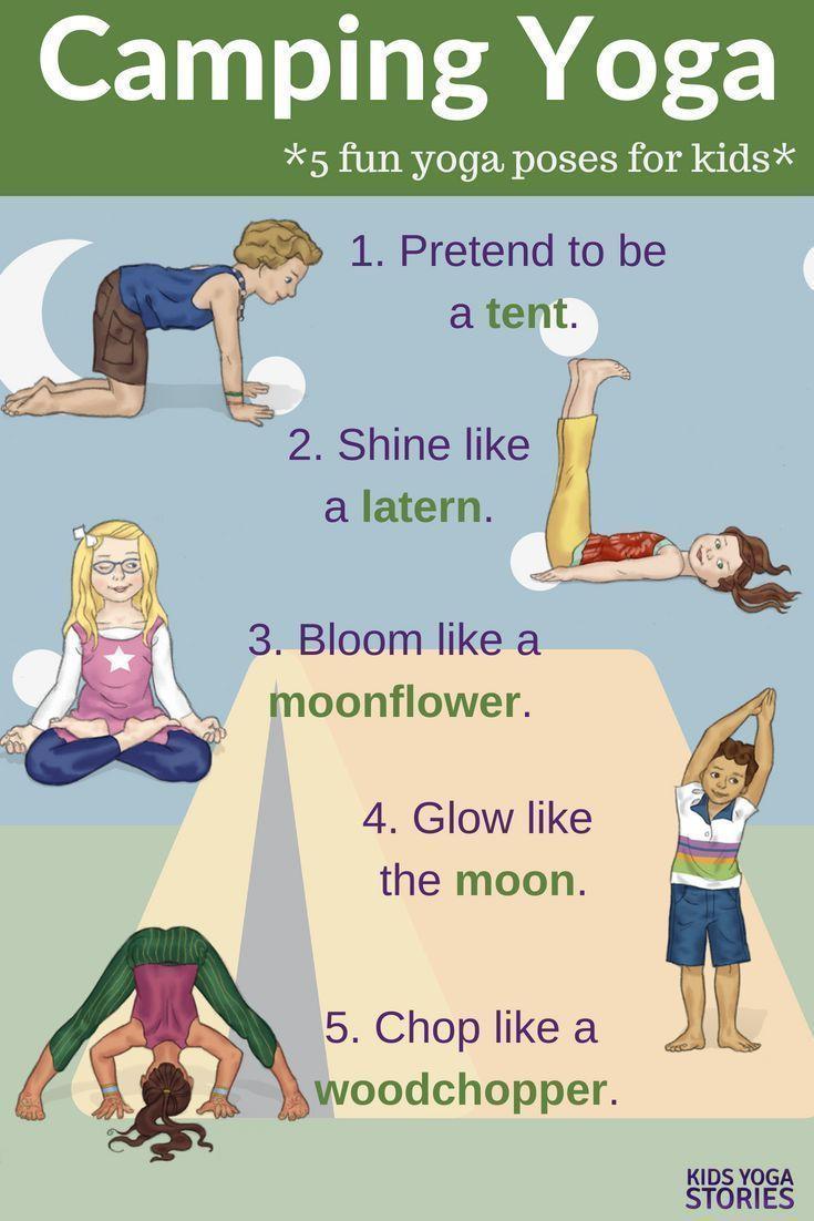 25 Camping Yoga Ideas (+ Free Printable)