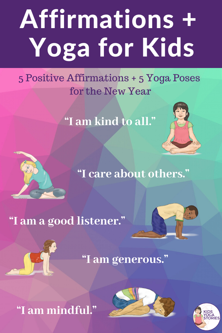5 Positive Affirmations + 5 Yoga Poses for the New Year