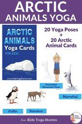 Arctic Animals Yoga Printable Cards for Kids