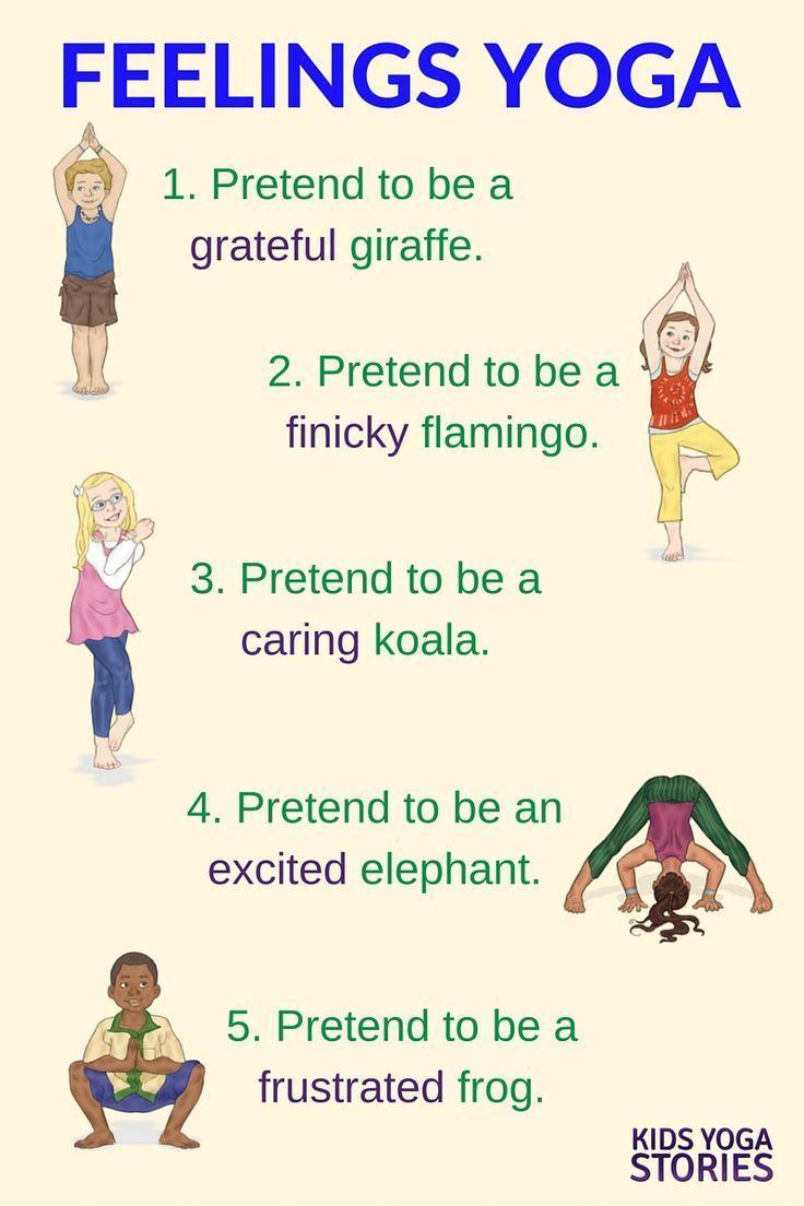 Emotions Yoga (Printable Poster) - Kids Yoga Stories | Yoga resources for kids