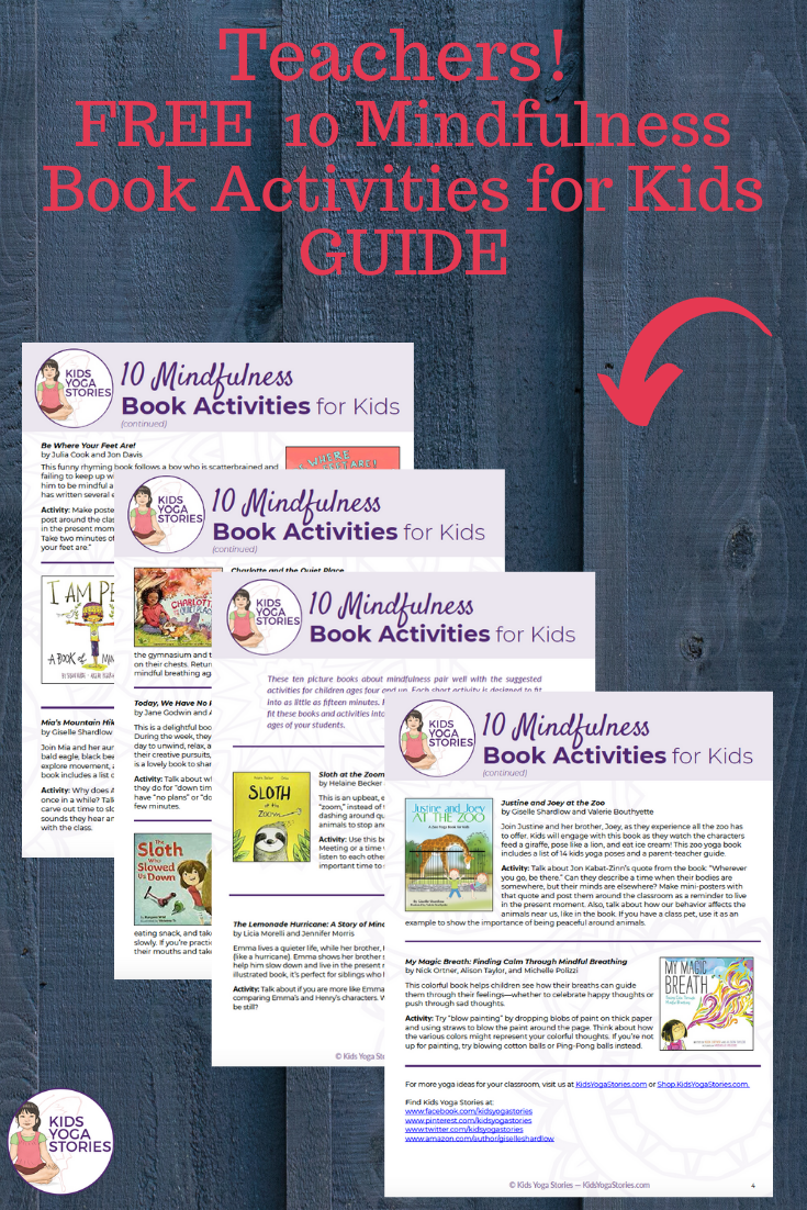 Free Guide!  10 Mindfulness Book Activities for Kids