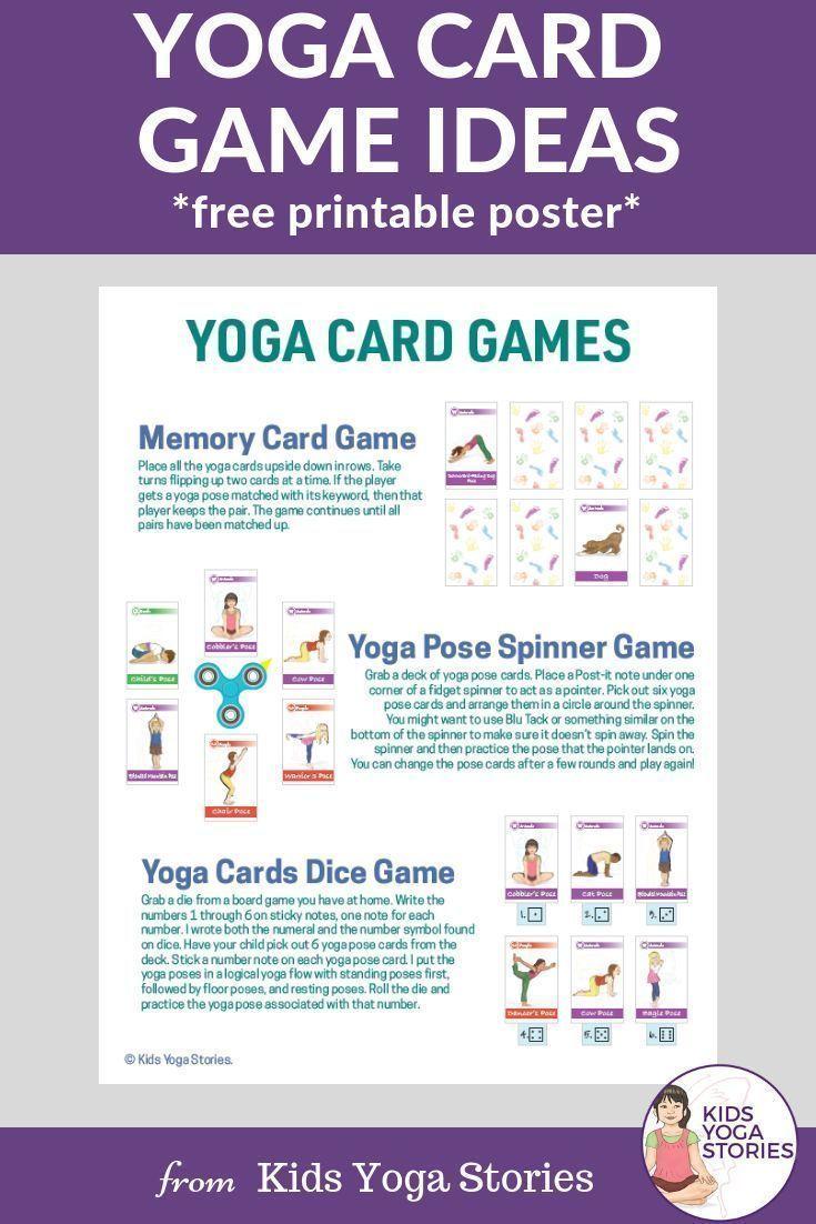 Yoga Card Game Ideas (Free Printable)