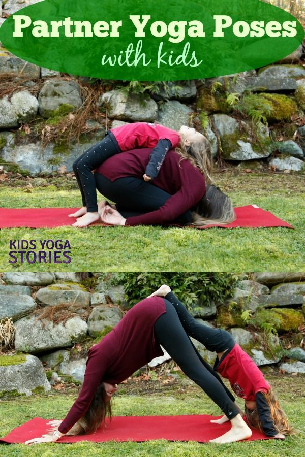 5 Easy Partner Yoga Poses for Kids (Printable Poster) - Kids Yoga Stories | Yoga resources for kids