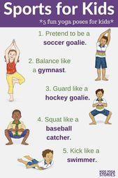 Sports for Kids: Yoga Poses that Mimic Popular Youth Sports - Kids Yoga Stories | Yoga stories for k