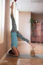 Use blocks to get upside down! #yoga #inversions #yogablocks