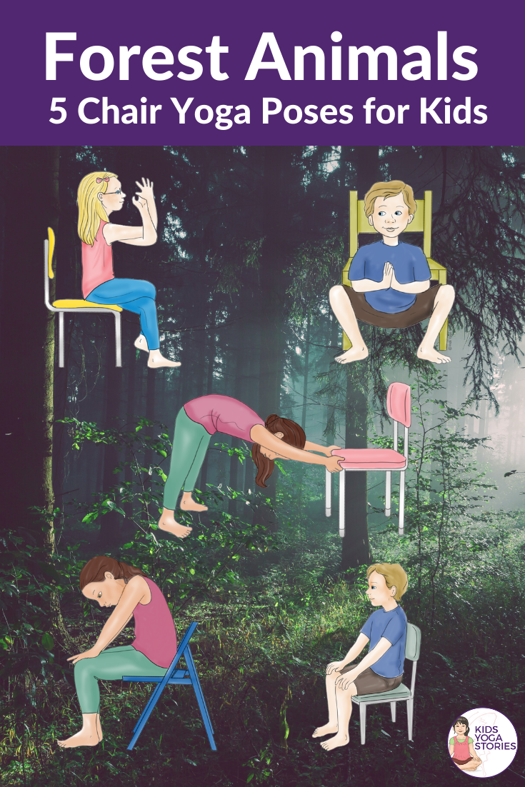 5 Forest Animal Yoga Poses for Kids + Free Poster