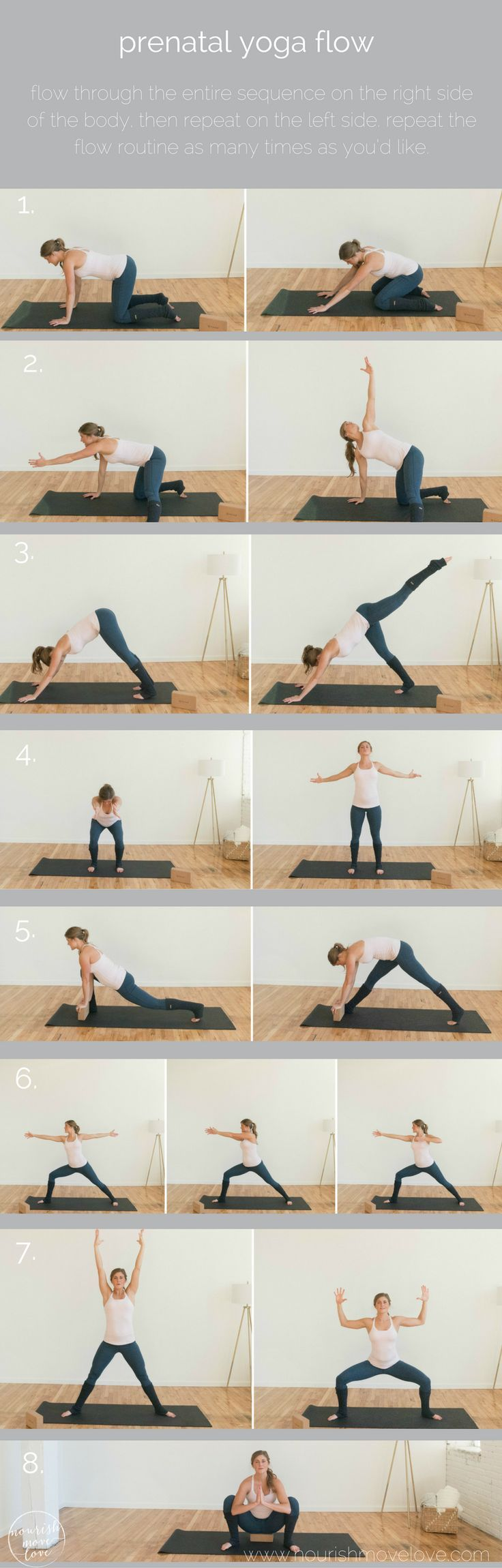 prenatal yoga flow: 8 best prenatal yoga exercises | nourish move love