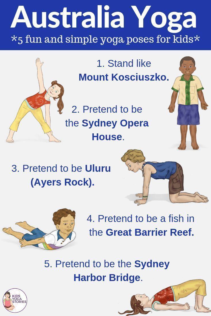 Australia for Kids: Learn about Australia through Yoga Poses for Kids