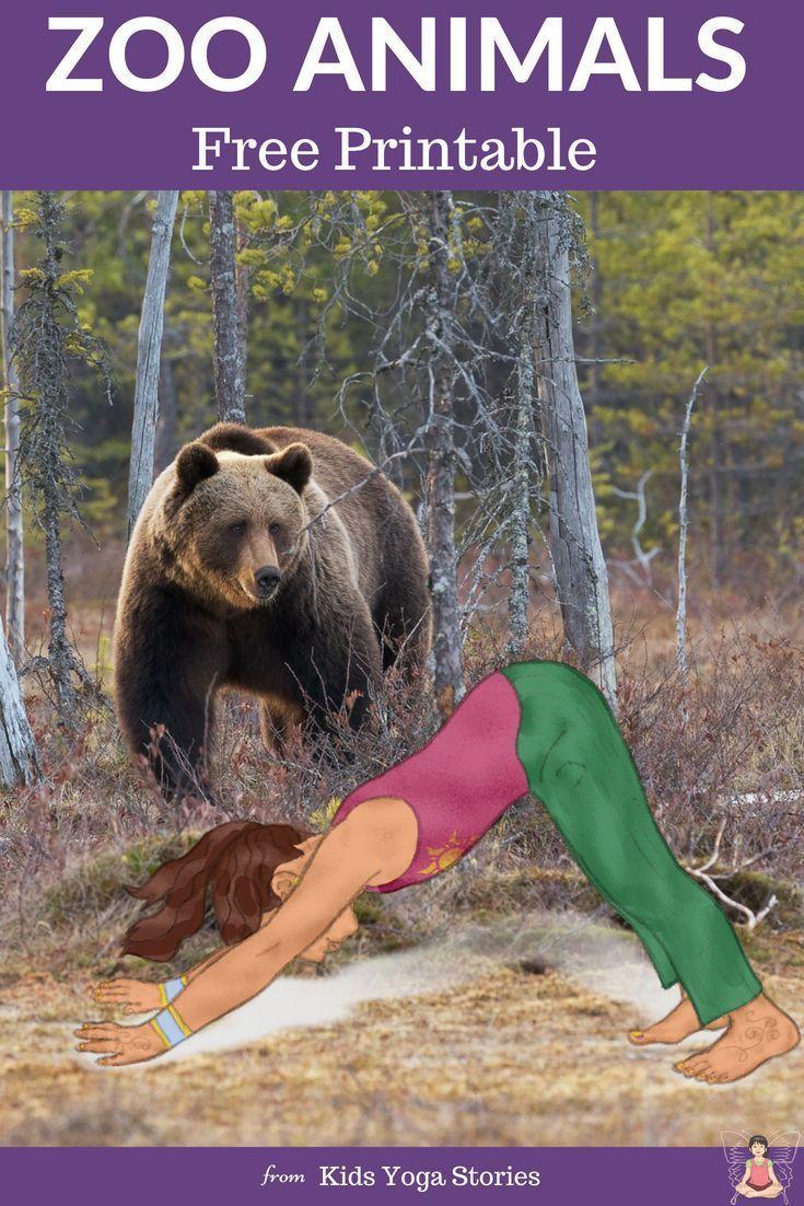 5 Zoo Yoga Poses for Kids (Printable Poster) - Kids Yoga Stories | Yoga resources for kids