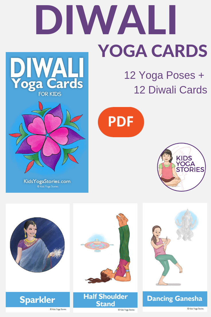 Diwali Yoga Cards for Kids