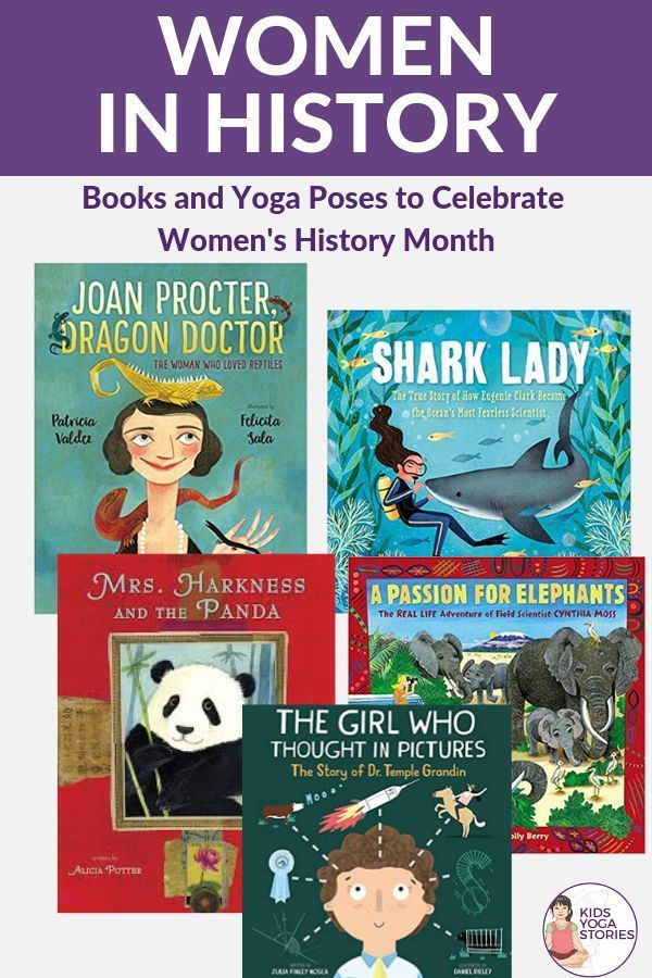 Honor Women's History Month through Books and Kids Yoga   Kids Yoga Stories