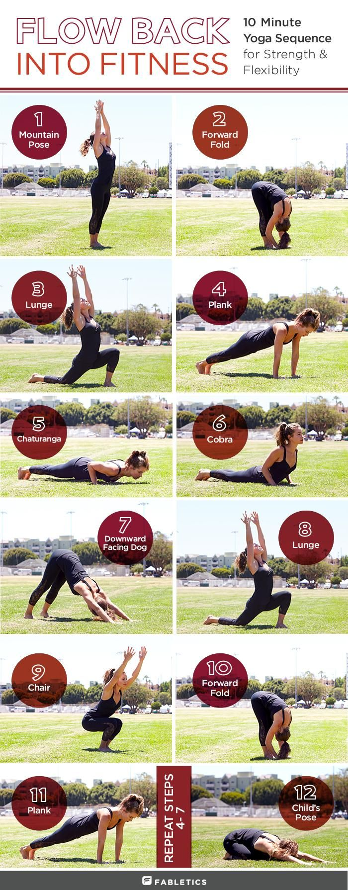Go With The Flow: 10-Minute Yoga Sequence to Get You Back on the Mat - The Fabletics Blog