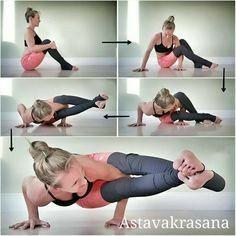 Steps to Astavakrasana