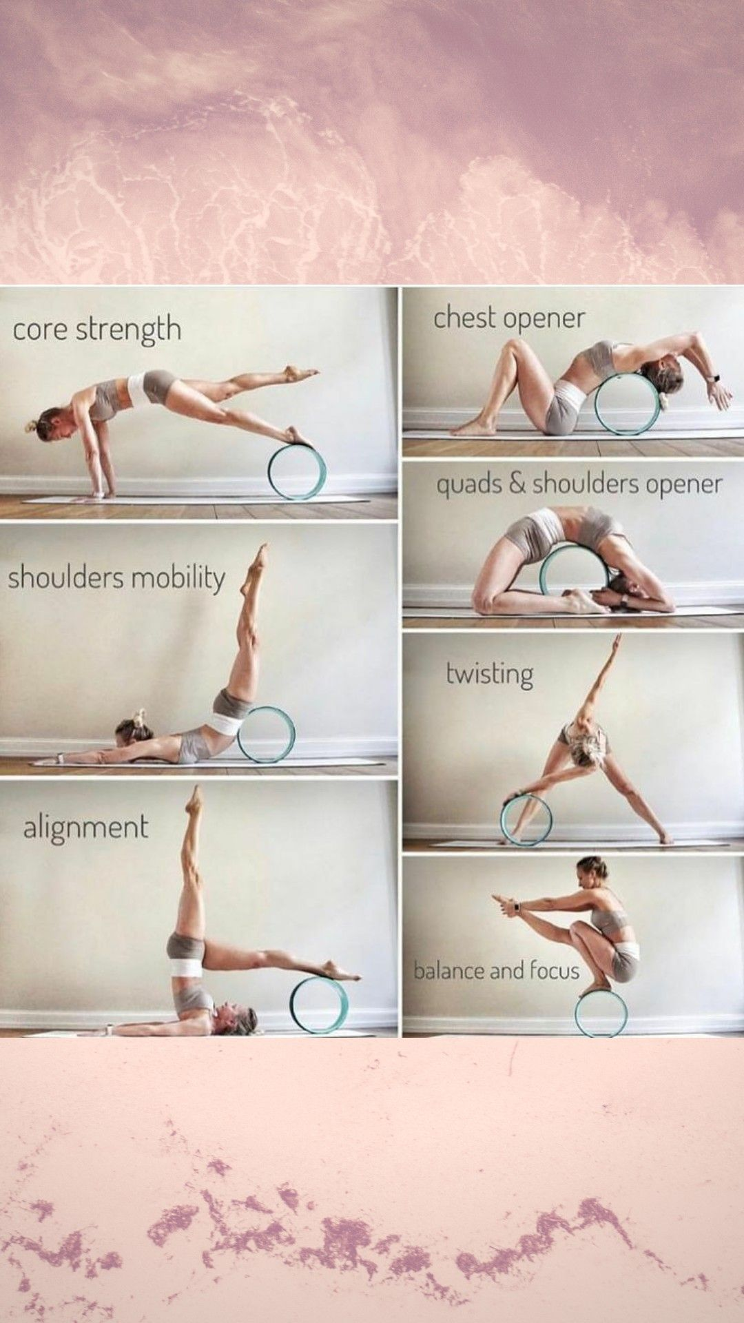 The  Yoga Wheel is a great tool to help u , strengthen and open your shoulders  , core