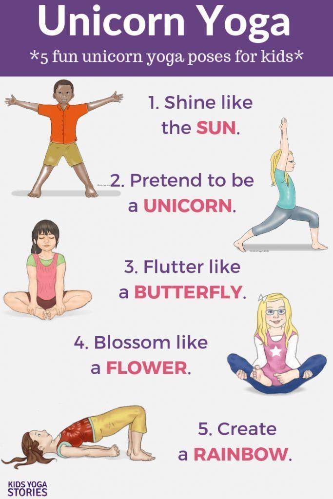 Unicorn Yoga: Books and Yoga Poses for Kids (Printable Poster) | Kids Yoga Stories