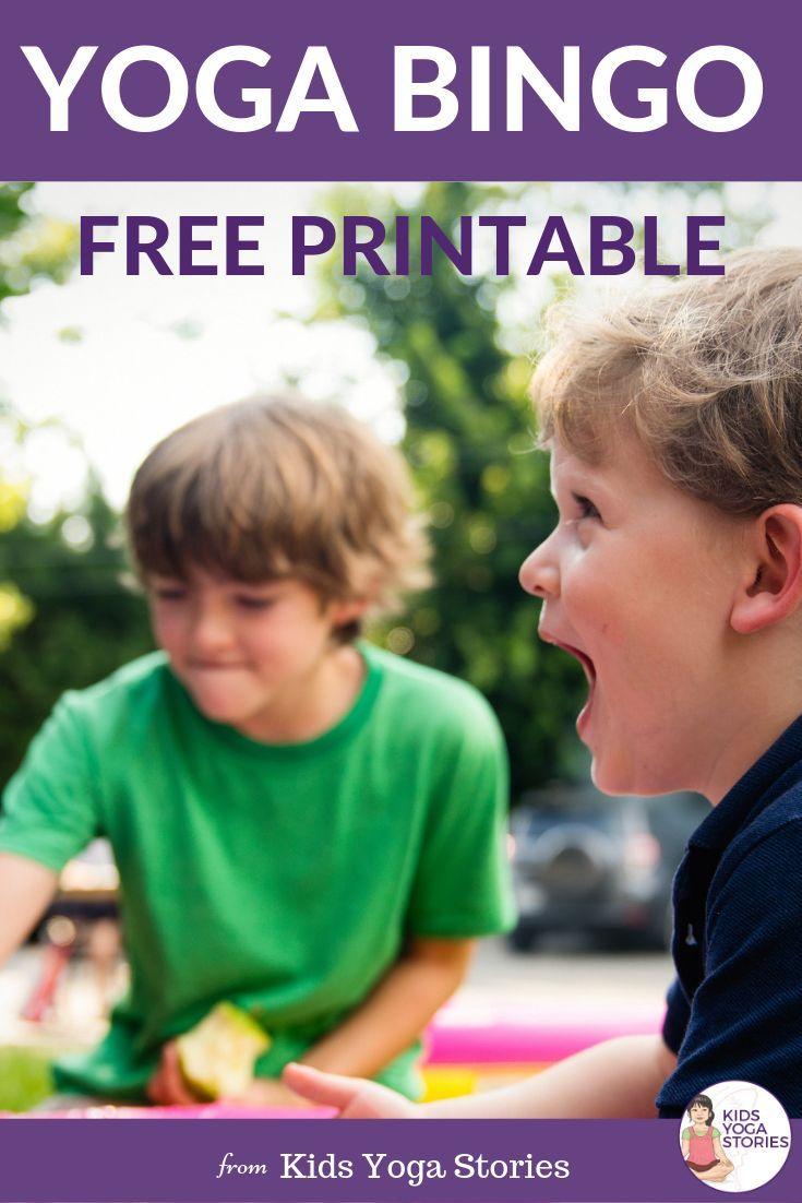 Yoga Bingo: Where do you practice yoga? (Printable Poster)   Kids Yoga Stories