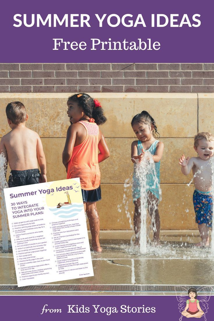 Summer Yoga Ideas for Kids (Printable Poster) - Kids Yoga Stories | Yoga resources for kids