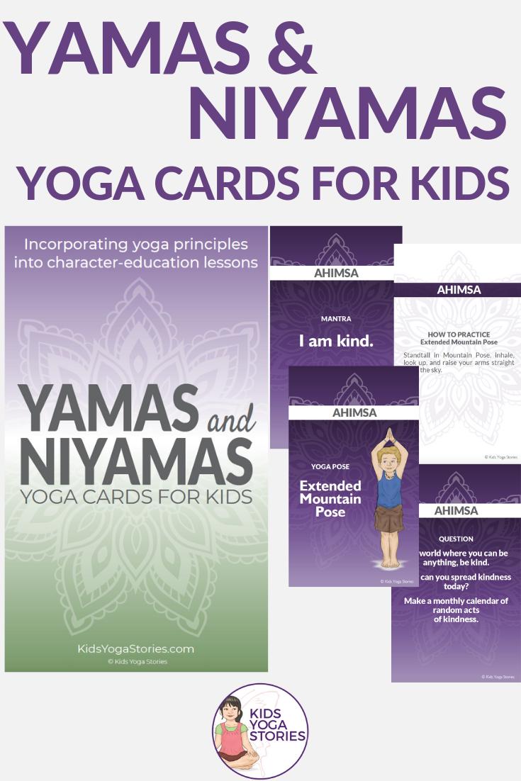 Yamas and Niyamas Cards for Kids